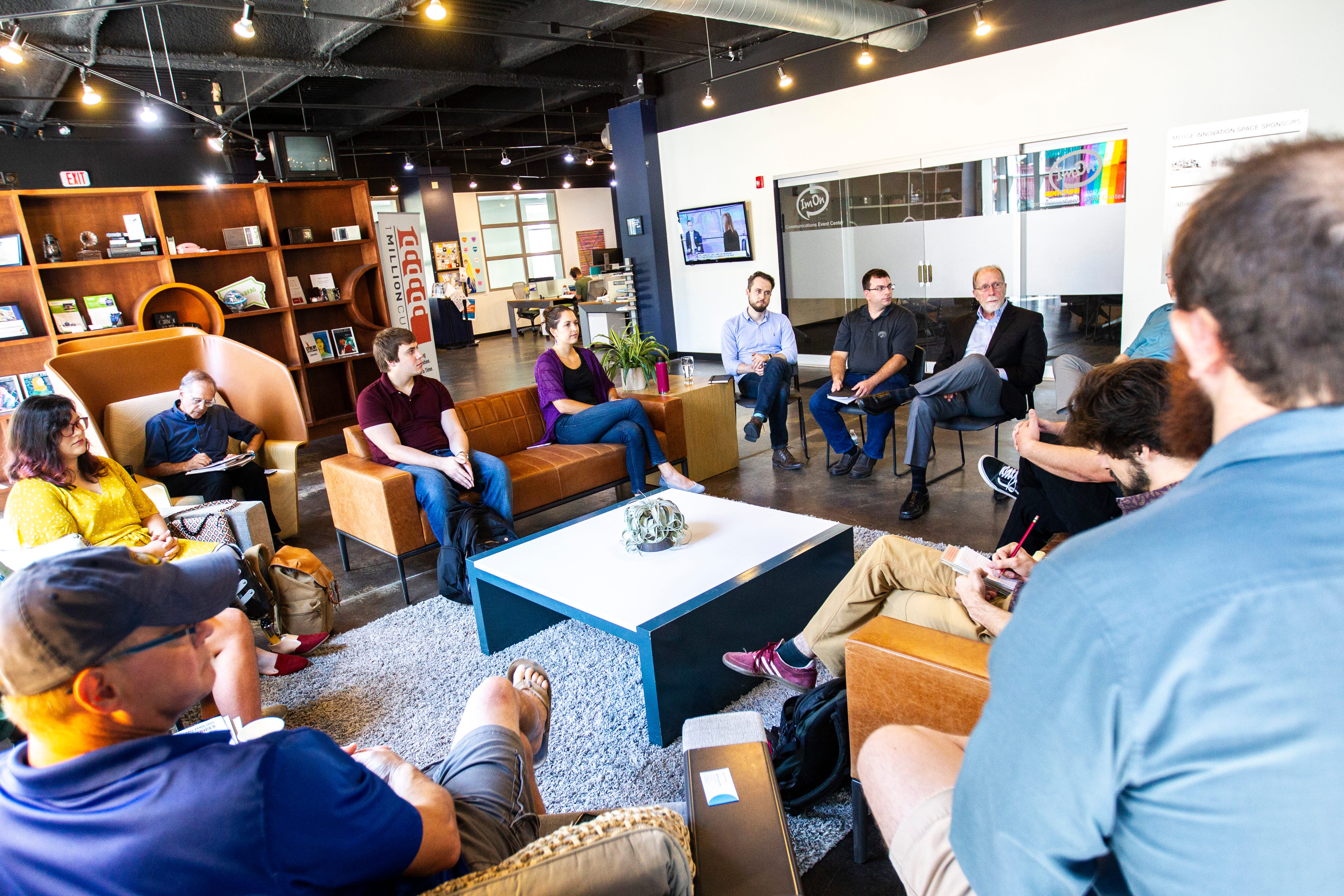 Photos: Dave Loebsack meets with entrepreneurs on Congressional Start Up Day