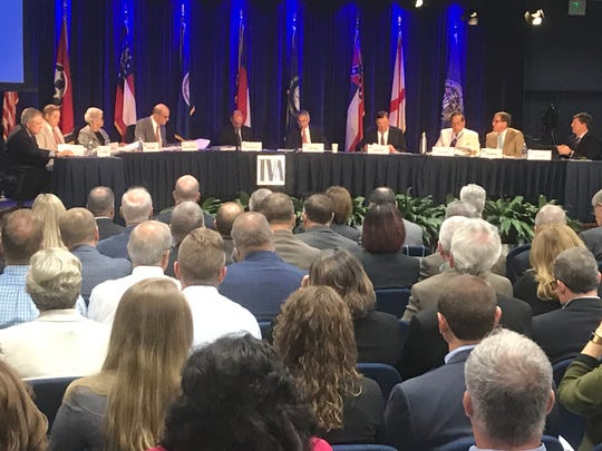 TVA board of directors meets in Knoxville on Aug. 22, 2019.