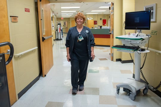 Jessie Simmons has been employed at St. Martin Hospital since it opened 50 years ago. Thursday, Aug. 22, 2019.