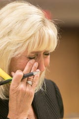 Attorney Lisa Barnett, representing herself in intervening in the process of exhumation of pets from a local cemetery, becomes emotional on the topic of the importance of burying a loved one and admits Thursday, Aug. 22, 2019 in court that her tears are why attorneys shouldn't represent themselves.