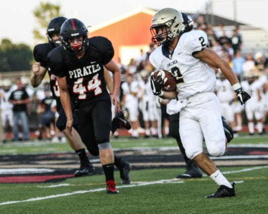 Pinckney's Drew Pilley (44) ranked third on the team with 60 tackles last season.