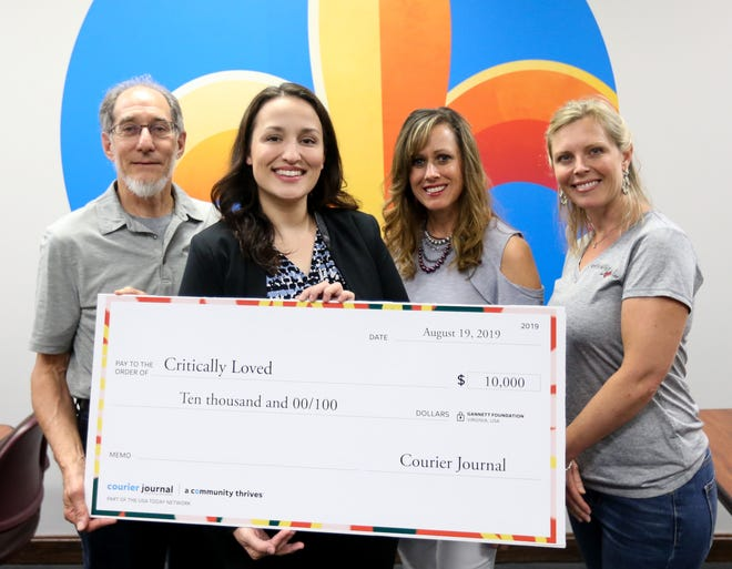 Organization Name: Critically LovedPictured from right to left are Angie Shaw Pryor, Board Member, TyiaLynn Scott, Executive Director,  Liz Morgan, Project Manager, Courier Journal and Bruce Zoeller, Board Member, Critically Loved