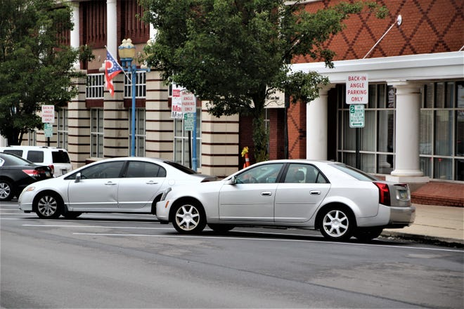 Back-in angle parking spaces are now in use in downtown Marion as part of a pilot program supervised by the Marion City/County Regional Planning Commission in conjunction with the City of Marion. The spaces are located in front of the Marion County Building at 222 W. Center St.