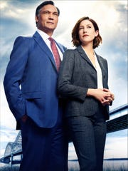 """Jimmy Smits as Elijah Strait and Caitlin McGee as Sydney Strait star in """"Bluff City Law."""""""