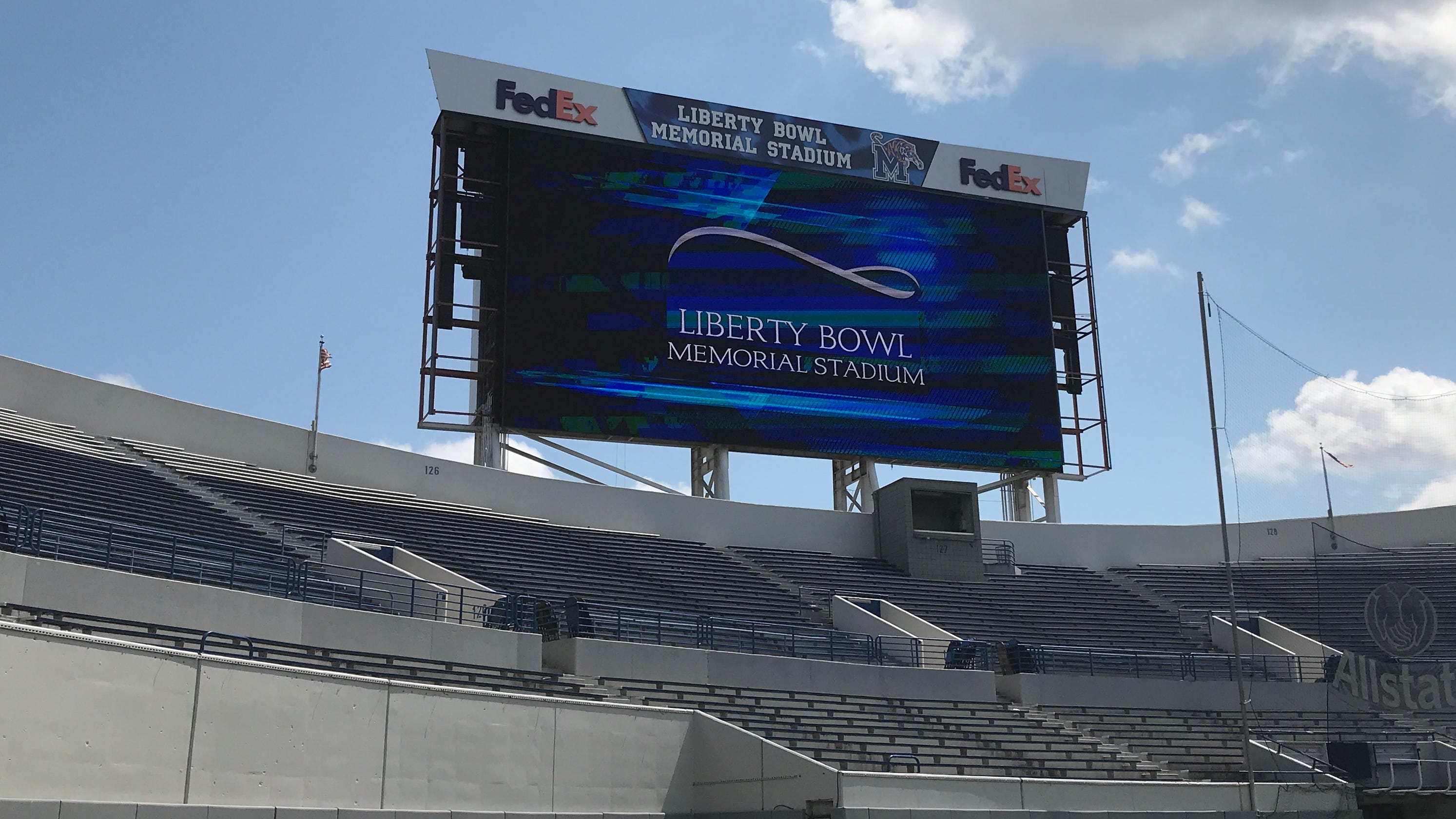 Memphis Liberty Bowl Memorial Stadium Get Upgraded Video Boards