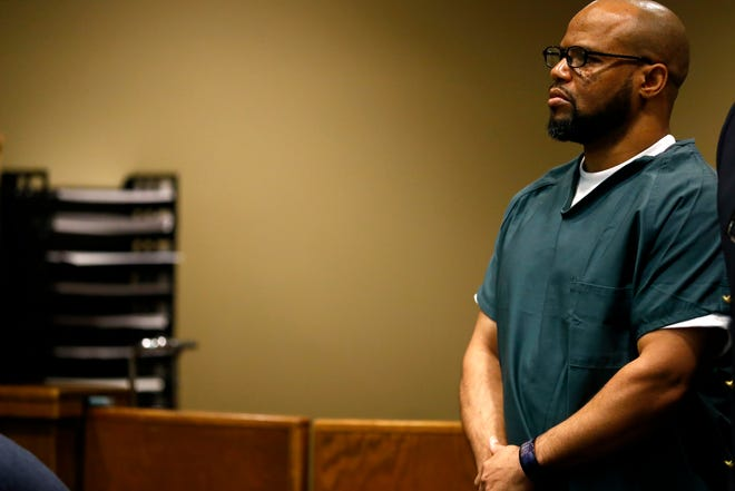 Defendant Billy Ray Turner makes an appearance in Judge Lee Coffee's courtroom Thursday, Aug. 22, 2019. Turner is charged with killing NBA star Lorenzen Wright.