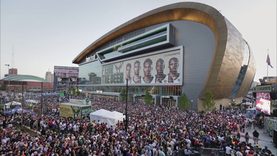 Fiserv Forum is the main venue for the 2020 Democratic National Convention in Milwaukee.