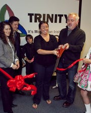 Mark Howard, right, at the opening of a Trinity Academy of Irish Dance location in Waukesha in 2010.