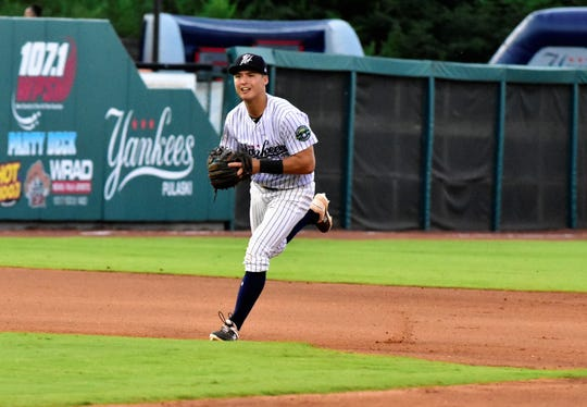 Delbarton graduate Anthony Volpe of Watchung, the Yankees' No. 1 overall draft pick, is a starting infielder for the Pulaski Yankees