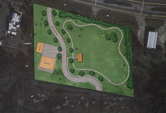 An artists rendering of the new Screws Park on Atlanta Highway in Montgomery, Ala., as seen during a groundbreaking ceremony on Thursday August 22, 2019.