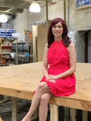 "Carrie Preston is directing the upcoming production ""BUZZ"" in the scene shop at Alabama Shakespeare Festival."