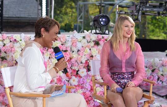 "Taylor Swift performs live from Central Park on ""Good Morning America"" Thursday."