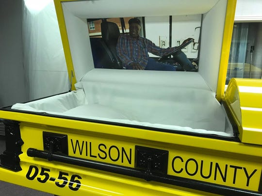 David Wright was laid to rest in a casket made to look like a Wilson County school bus that has brought reaction from around the country.