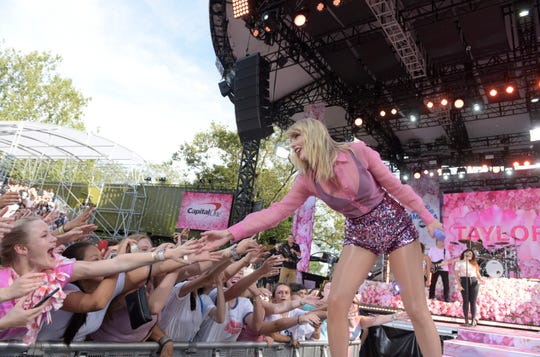 Taylor Swift performs live from Central Park on Thursday, ahead of her new album release.