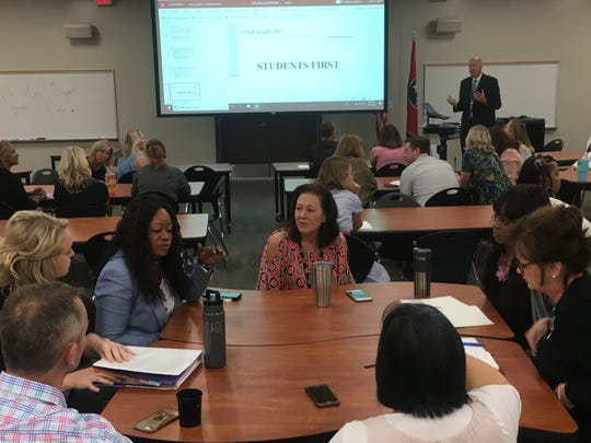 Jason Golden, superintendent of Williamson County Schools, sets the tone of empathy for students' cultural backgrounds at the Cultural Competency Council meeting Tuesday.