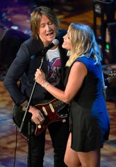 Keith Urban and Miranda Lambert perform at the 13th Annual ACM Honors at the Ryman  Wednesday, Aug. 21, 2019, in Nashville, Tenn.