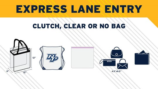 Acceptable bags for express lane entry
