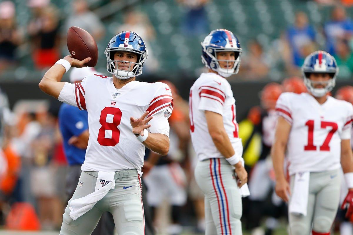 promo code 01255 eecb9 Daniel Jones: How NY Giants rookie QB is earning teammates ...