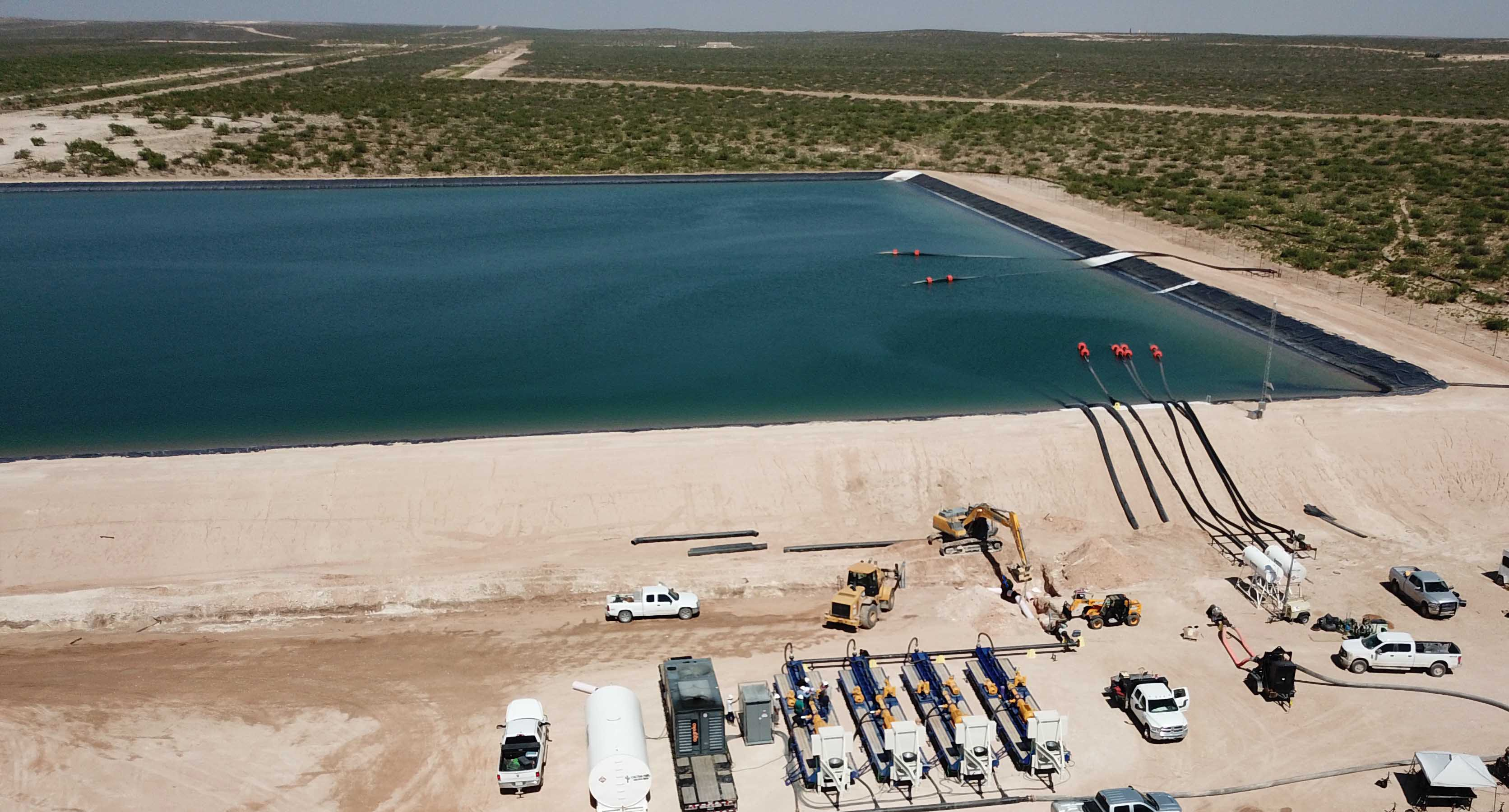 """Solaris Water Midstream in Carlsbad owns this water handling facility. CEO Bill Zartler said Solaris operates disposal wells, but to sustain the """"unprecedented"""" growth in oil and gas production in the Permian, companies must look for other alternatives."""