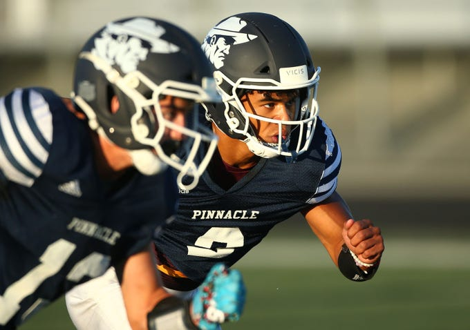 Pinnacle High wide receiver Marcus Libman (3) on Aug. 20, 2019 in Phoenix, Ariz.