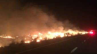 The Black Mesa Fire had grown to approximately 200 acres, shutting down traffic on Interstate 17 in both directions on Wednesday night, Aug. 21, 2019.