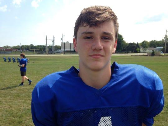 Danbury quarterback Kaden Conrad