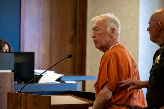 Richard Laurence Hartwick exits St. Clair County Circuit Judge Michael West's courtroom after sentencing Thursday, Aug. 22, 2019. Hartwick was ordered to pay almost $1.5 million in restutition and was sentenced to a minimum of 10 years for embezzling money from Blue Water Center for Independent Living, where he formerly worked as an accountant.