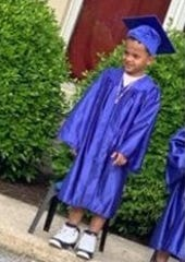Elias Dowlatram, seen here graduating from pre-kindergarten. He was fatally shot Aug. 20,2019, York City Police said.