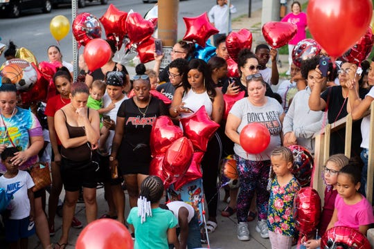 In this file photo from Aug. 21, mourners gathered to release balloons and remember 5-year-old Elias Dowlatram.
