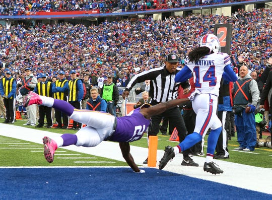 Sammy Watkins' pinnacle moment in Buffalo may have been this game-winning TD reception against the Vikings in 2014.