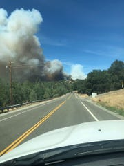 The fast-moving Mountain Fire has grown to 150-200 acres, according to firefighters on the ground.