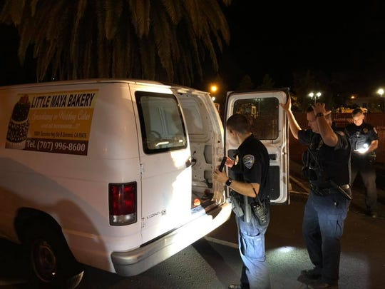 Redding police investigate a stolen donut van found early Thursday morning in downtown Redding.
