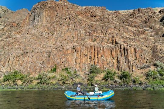 Rafting the John Day River.