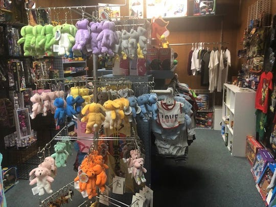 One of the sections in Madison's Avenue features clothes and toys for children.