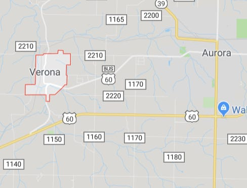 The Syntex Superfund site is on the west edge of Verona.