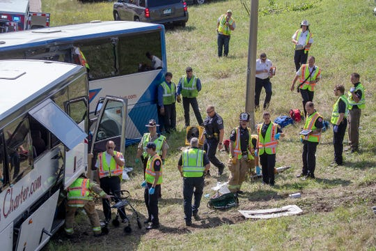 9 injured after Little Falls tour bus crashes with another