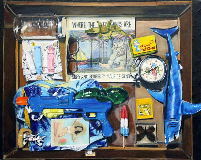 """Christopher Rivera's """"Red, Hot"""" is part of the """"Batteries Not Included"""" exhibit at the Artport Gallery."""