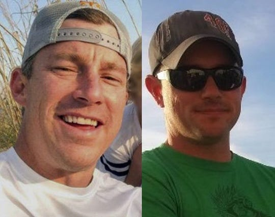 Brian McCluney (left) and Justin Walker disappeared Aug. 16, 2019, after leaving Port Canaveral for a day of fishing.