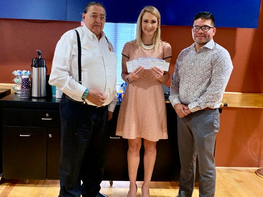 The Tiguas presented a check from proceeds of the Clint Black concert to the Paso del Norte Community Foundation Aug. 20.