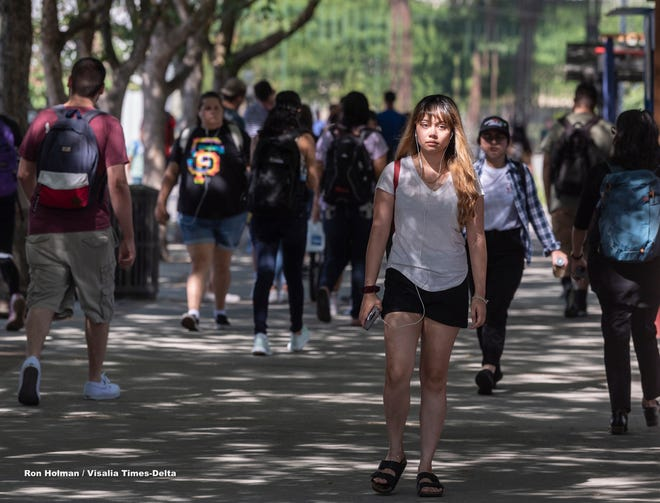 Fresno State students in 2019.