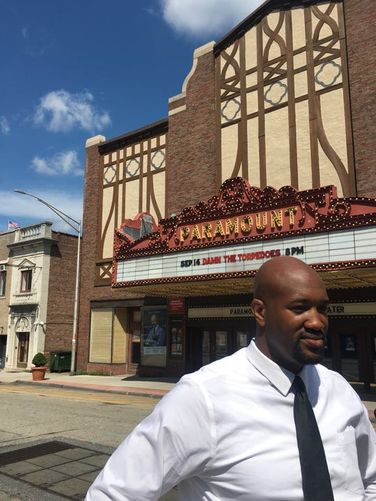 Peekskill Mayor Andre Rainey during a walking tour of parts of the city's downtown Thursday looking at potential uses for the $10 million that Peekskill recently received from the state for revitalization.
