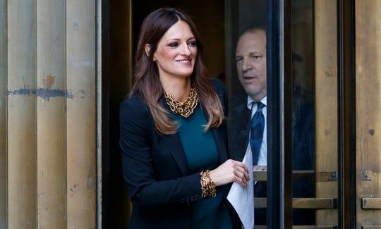Defense attorney Donna Rotunno with client Harvey Weinstein leave New York State Supreme Court on July 11, 2019.