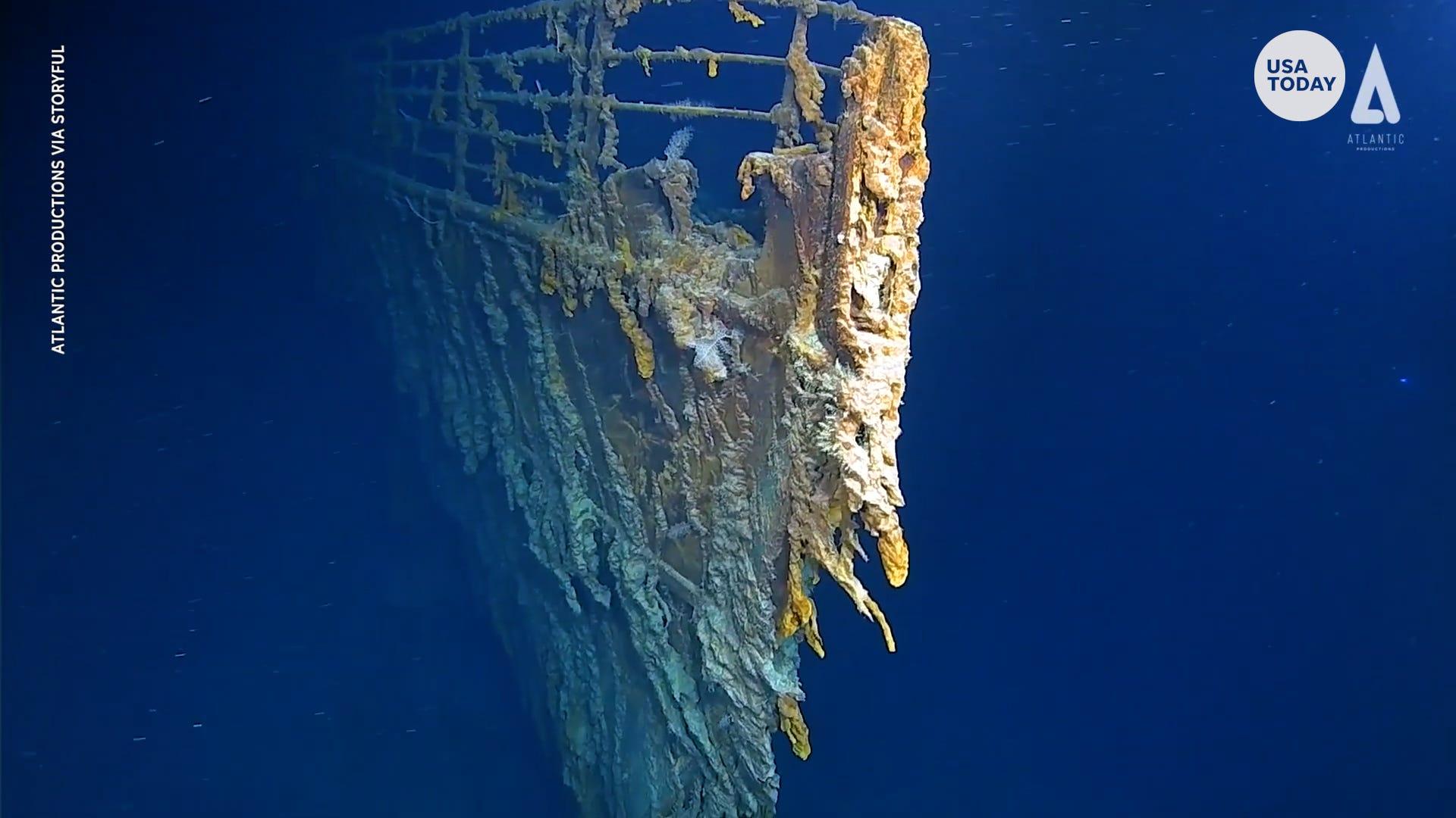 See Titanic s  shocking  deep sea deterioration