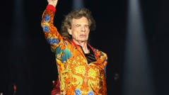 Mick Jagger of The Rolling Stones performs at MetLife Stadium on Monday, Aug. 5, 2019.