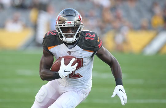 Buccaneers wide receiver Chris Godwin had seven touchdowns last season among his 59 catches.