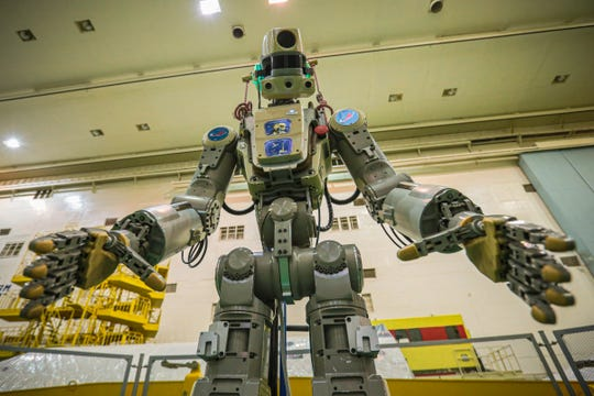 Humanoid robot launched into space: Russian Soyuz rocket blasts off towards ISS
