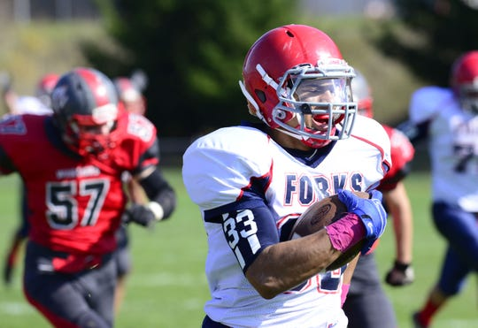 Chenango Fork's L.J. Watson runs for a touchdown against Chenango Valley in 2014.