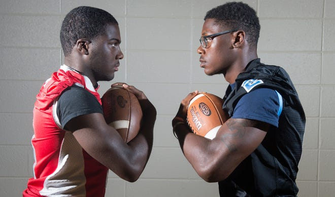 St. Joseph's Jada Byers, left, and Highland's Johnny Martin, arguably the top two running backs in South Jersey football, will square off in a game played at Rutgers University on opening weekend.