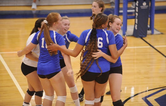 Unioto High School volleyball defeated Chillicothe in five sets 3-2 on Thursday Aug. 22, 2019 at Chillicothe High School.