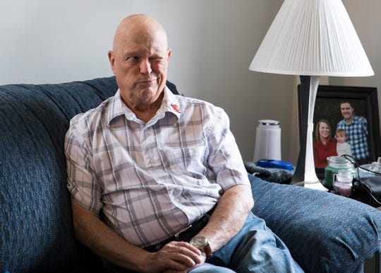 Larry McKillip takes a moment as he remembers his college days and how he had to leave due to his mother being diagnosed with cancer. McKillip had earned enough credits to receive an official associate degree from the University of Louisville.